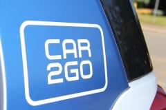 car2go-Logo an einem Elektrosmart