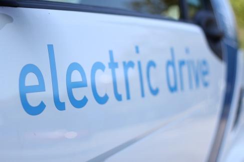 Schriftzug an einem car2go-Elektrosmart.