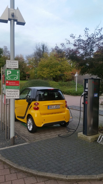 smart fortwo electric drive beim Laden