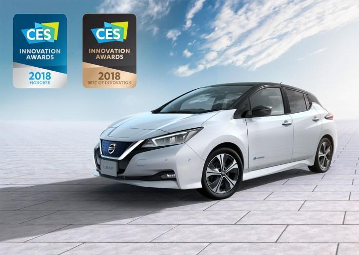 "Nissan Leaf gewinnt ""Best of Innovation""-CES 2018 Award"
